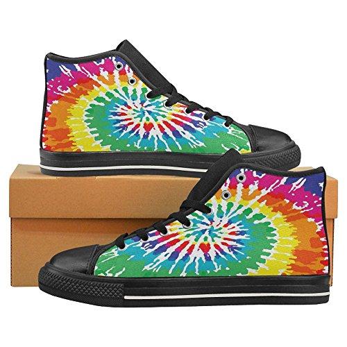 Scarpe Da Donna Casual High Top Classic Casual Moda Scarpe Da Ginnastica Sneakers Stringate Tie Dye