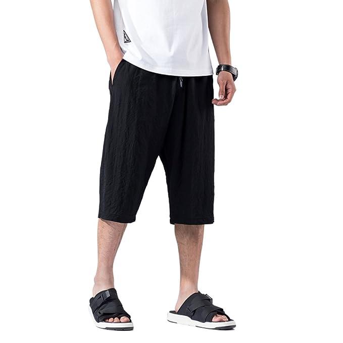 Yra Pantalones Cortos De Verano Pantalones Cortos Harlan De Hombre Pantalones  Anchos De Pierna Pantalones Deportivos Sueltos De Hombres Pantalones ... 1389c702d3fc