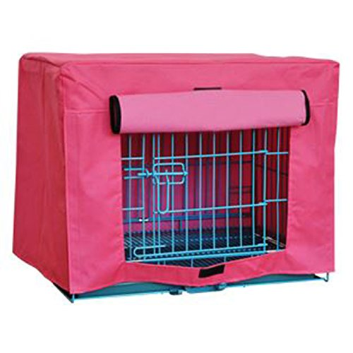 Alfie Pet by Petoga Couture - Fritzi Pet Polyester Crate Cover - Color Pink, Size: Large