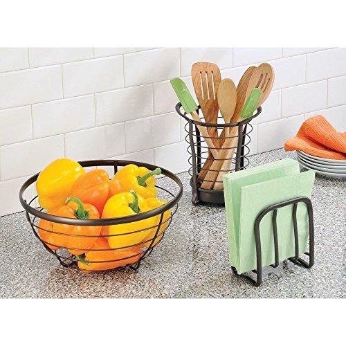 Interdesign Axis Utensil Spatula Silverware Holder For Kitchen Countertop Storage Bronze