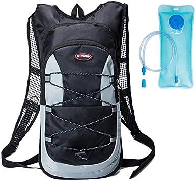 haoyk 12L impermeable mochila ligera bolsa de hidratación deporte bolsa de agua (2L) con reflectante para mujeres hombres correr esquí senderismo ciclismo bicicleta montaña