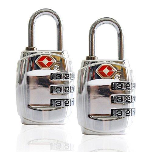 Smartrip TSA Approved Luggage Locks 2 Pack Combination Padlock For School Sturdy Zinc Alloy Gym Locker Travel Lock