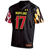 Under Armour NCAA Maryland Terrapins FG205078A63 Childrens Official Sideline Jersey, Medium, Black