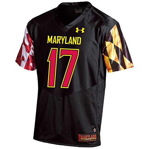 Under Armour NCAA Maryland Terrapins FG205078A65 Childrens Official Sideline Jersey, X-Large, Black