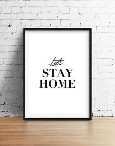 Lets Stay Home Poster Wall Decor Minimal Art Inspiration Minimalist Print