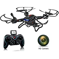 ZeliCopters DFD New RC Quadcopter Drone with HD Video Camera RTF 4CH 2.4GHz 6-Gyro Headless System (A Key Back Auto) Remote Control Quadcopters Drones (Color May Vary)