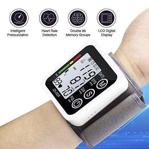 Muñeca Tensiómetro, elegiant Digital LCD Tensiómetro - Tensiómetro de presión arterial Monitor de Presión Arterial Medir muñeca mano - Tensiómetro ...