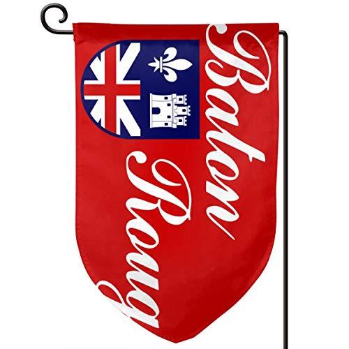 HappyLifea Flag of Baton Rouge 12.518 Inch Garden