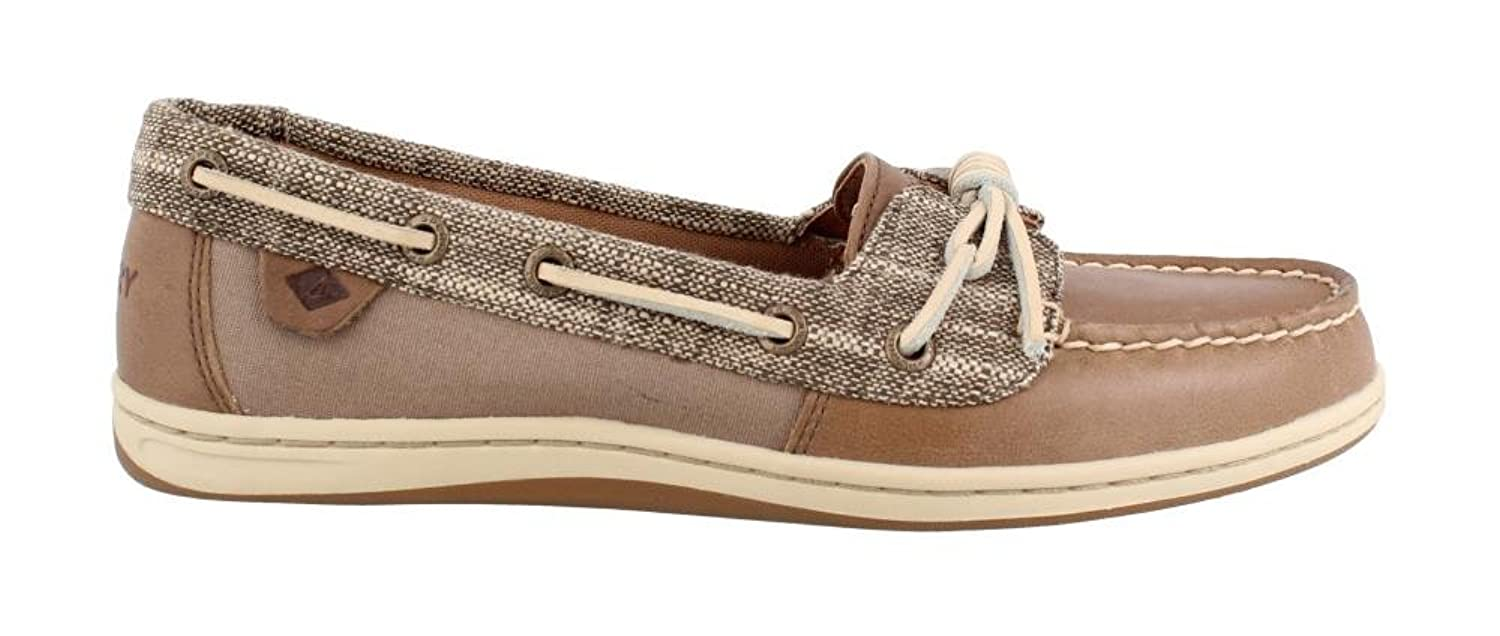 d6dac82a0883 Amazon.com | Sperry Women's Barrelfish Heavy Linen Taupe Oxford | Oxfords