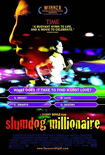 SLUMDOG MILLIONAIRE MOVIE POSTER 1 Sided ORIGINAL FINAL 27x40 DANNY BOYLE