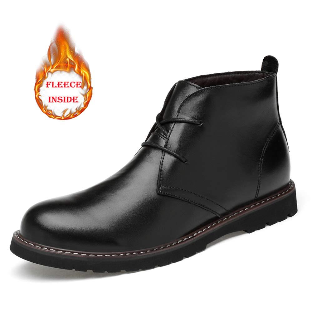 アンクルブーツ 新しい 男性 靴 カジュアル 柔らかい ハイトップ 革 コットンウォーム 作業 シューズ 通気 B07H494SJ2 26.0 cm|warm black warm black 26.0 cm