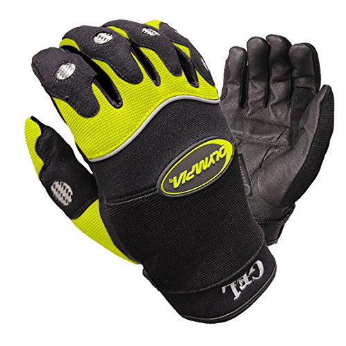 Olympia 710 Mens Gel Reflector Hi-Viz Sport Series Gloves X-Large