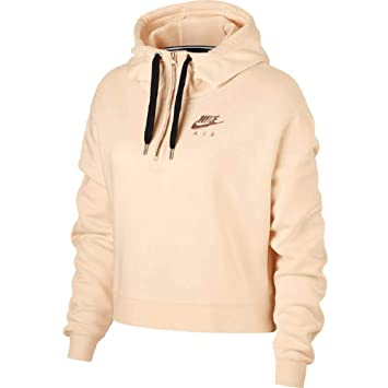 Nike W NSW Air HZ Hoodie FLC - Sudadera, Mujer, (Guava Ice/Rose Gold/Black): Amazon.es: Deportes y aire libre