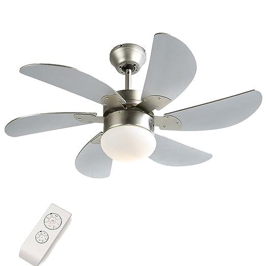 Moderno 76 2 Cm 76 Cm Ventilatore Da Soffitto Con Luce E