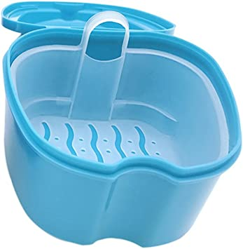 SUPVOX Caja para Ortodoncia Protesis Dental Dentadura Postiza Estuche para Retenedores Dentales (azul claro): Amazon.es: Salud y cuidado personal