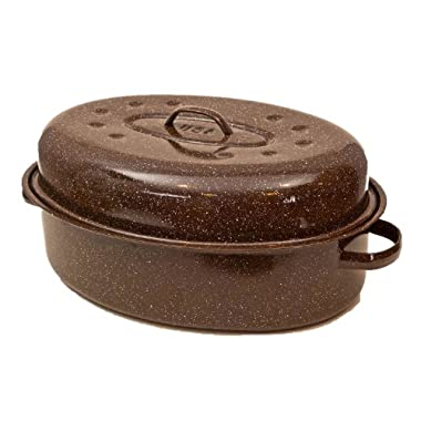 Granite Ware F0591-2 Roaster with Nonstick Rack, 20-Pound, Brown