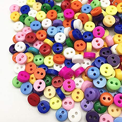 Mixed Black Xmas Pastels 6mm Mini Buttons Tiny for Dolls Crafts Scrapbooking