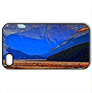 JASPER NATIONAL PARK,ALBERTA,CANADA - Case Cover for iPhone 4 and 4s (Amusement Parks Series, Watercolor style, Black)