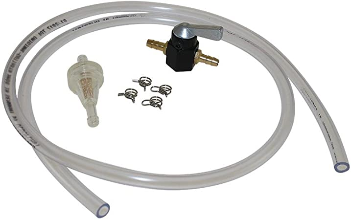 6mm Kraftstoff Leitung Set Benzin Schlauch Hahn Filter Klammer Für Moped Mofa Roller Hercules Kreidler Zündapp Puch Auto