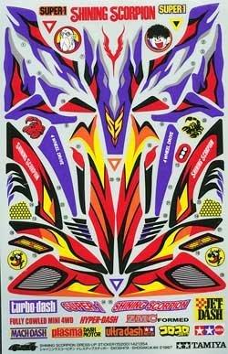 シャイニングスコーピオン ドレスアップステッカー 「ミニ四駆 グレードアップパーツシリーズ」 [15200]