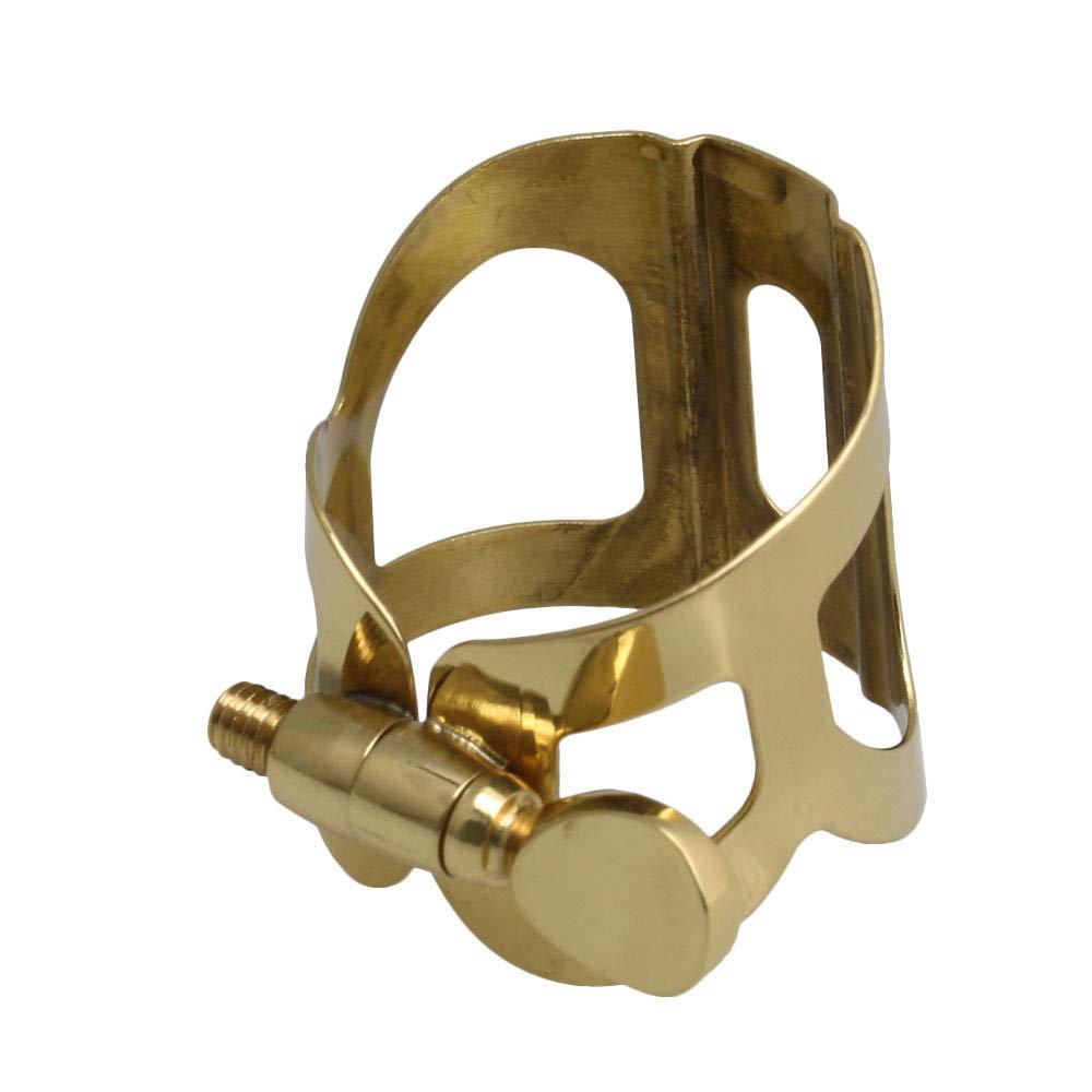 Mxfans Golden Saxophone Mouthpiece Ligature Clip Fastener for E-flat Alto Sax