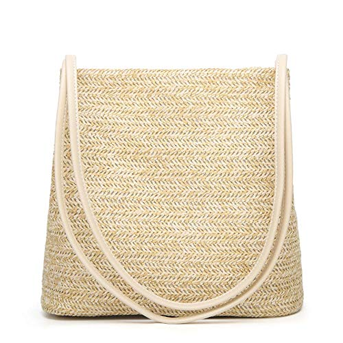 HaloVa Women's Handbag, Fashion Beautiful Straw Woven Tote, Large Summer Beach Shoulder Bag, ()