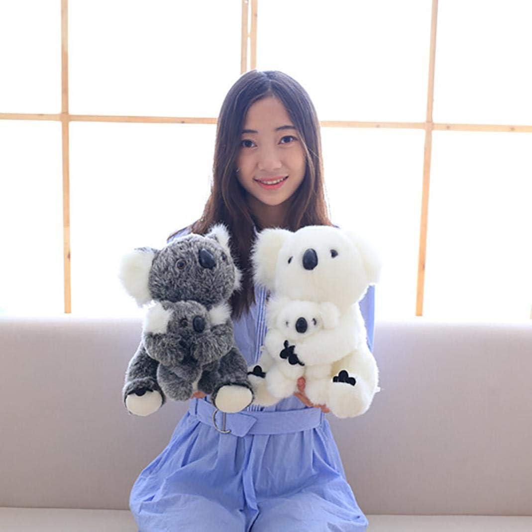 Zconmotarich Cute Simulated Koala Plush Toy Super Soft Stuffed Animal Doll Birthday Gift Gray 30cm