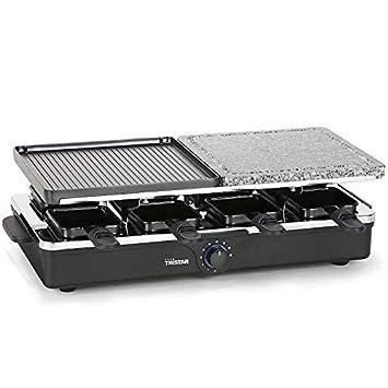 Parrilla de raclette con 8 sartenes mesa grill eléctrico ...