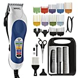 Facial Hair Color - Wahl Color Pro Complete Hair Cutting Kit with Extended Accessories & Cape, Includes Color Coded Guide Combs and Color Coded Hair Length Key, Styling Shears, and Combs for Home Styling,79300-1001