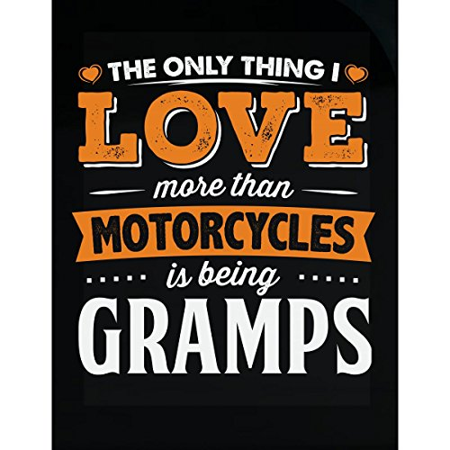 My Family Tee Love Being Gramps More Than Motorcycles Biker Gift - Sticker