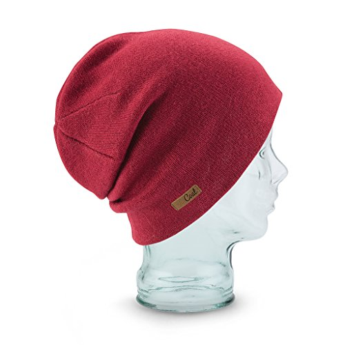 Coal Julietta | Womens Slouchy Beanie, Soft Jersey Knit Snowboard & Ski Hat - Ruby Red