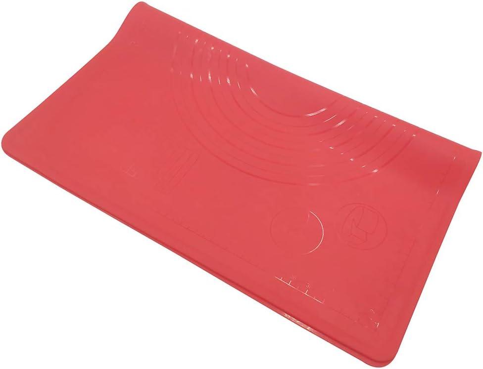 Tappetino da forno in silicone resistente al calore per la preparazione di pizza blu Macabolo 50 * 60cm Silicone 50 x 60 cm con graduazione