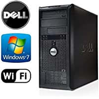 "Business Desktop: Dell Optiplex 360 Tower - Intel Core 2 Duo 2.93GHz, 4GB RAM, NEW 1TB HDD, Windows 7 Professional 32-Bit, WiFi, DVD/CD-RW + NEW Dell 19"" Monitor (Prepared by ReCircuit)"