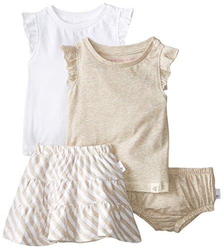 Burt's Bees Baby Girls Organic  Tanks Reversible Skirt and Diaper Cover, Sand Heather, 3-6 Months