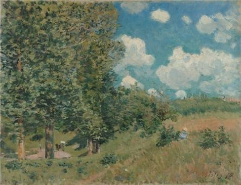 Oil Painting 'The Road From Versailles To Saint-Germain, 1875 By Alfred Sisley' Printing On High Quality Polyster Canvas , 12x16 Inch / 30x40 Cm ,the Best Bar Gallery Art And Home Artwork And Gifts Is This High Definition Art Decorative Prints On Canvas