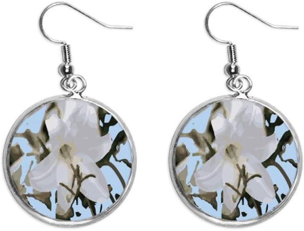 Chile Lily Wild Lilium - Pendientes colgantes de plata para mujer