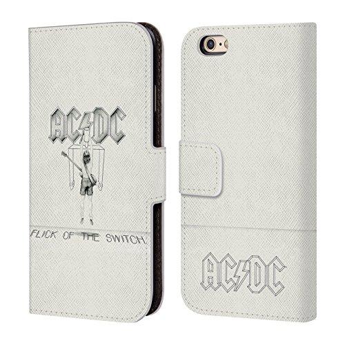 Officiel AC/DC ACDC Chiquenaude De L'Échange Couverture D'album Étui Coque De Livre En Cuir Pour Apple iPhone 6 / 6s