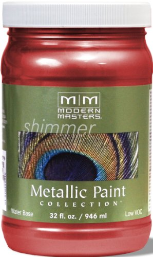 Modern Masters ME513-32 Metallic Sashay Red, 32-Ounce