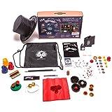Kids Magic set - 150 tricks and illusions w/ magic wand. magician's hat &drawstring backpack