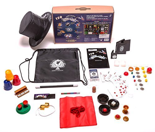 Kids Magic set - 150 tricks and illusions w/ magic wand. magician's hat &drawstring - Magician Magic Set