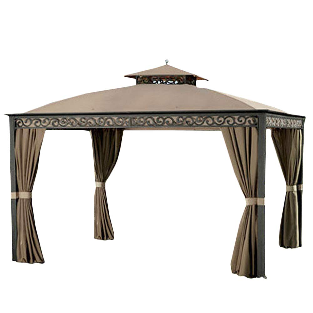 Garden Winds LCM1092BUGF-RS Southport 10x12 Gazebo RipLock 500 Replacement Canopy, Beige