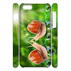 3D Beautiful Snail IPhone 5C Case, Unique Design Case Cell Phone Case for Iphone 5c Okaycosama {White}
