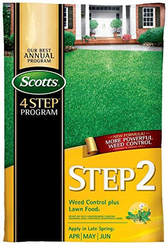 Scotts Fertilizer, 45 lb 34161 15,000 sq. ft. Step 2 Weed Control Plus Lawn Food 2 Ferti, Brown/A ()