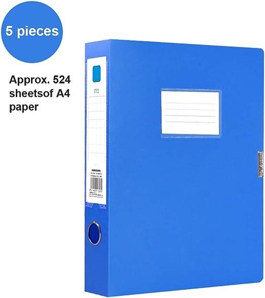OFFA A4 Archivo Cajas de plástico con Tapa, Anillo de Carpetas de Archivos Caja, Oficina de Archivo plástica Caja de Almacenamiento de Carpetas de Archivos Organizador Caja de Papel de Escritura: Amazon.es: