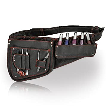Manicure Belt Nail Polish And Tools Black Holder Professional Technician Equipment Storage
