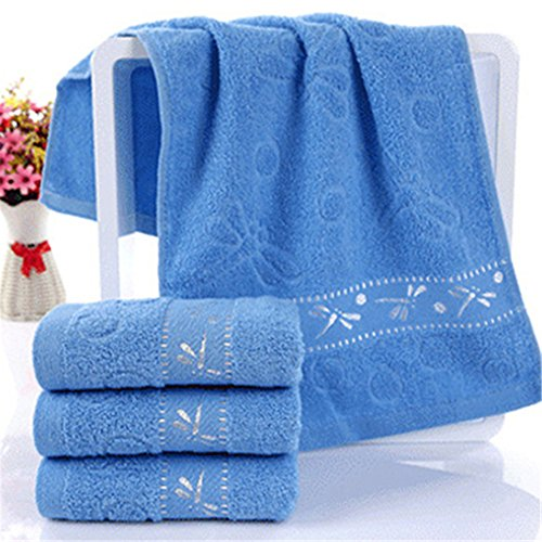 Colorido Dragonfly Pattern Soft Breathable Absorbent Household Bath Face Towel size Medium -