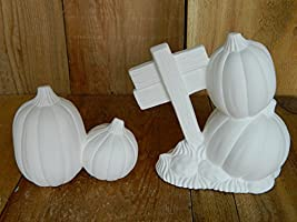 Hand Poured in The USA Donas Kissing Sweet Tots for Pumpkin Patch Pumpkins for Sale Ready to Paint Ceramic Bisque