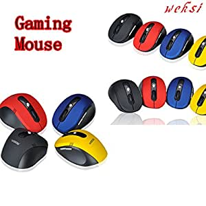 Weksi 2.4GHz Wireless Gaming Mouse with USB 2.0 Receiver for PC Computer, (Blue)