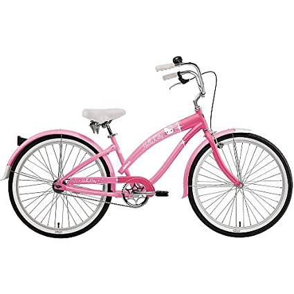f74bae1f648 Amazon.com : Nirve Hello Kitty Special Edition Retro Kitty Girl's/Women's  24-Inch Cruiser Bike : Cruiser Bicycles : Sports & Outdoors