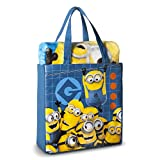 Despicable Me Minion Throw Blanket Silk Touch Canvas Tote Bag 2 pieces Set Review